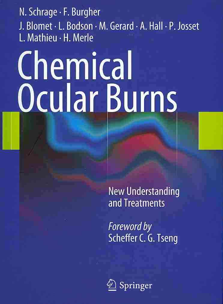 Chemical Ocular Burns By Schrage, Norbert
